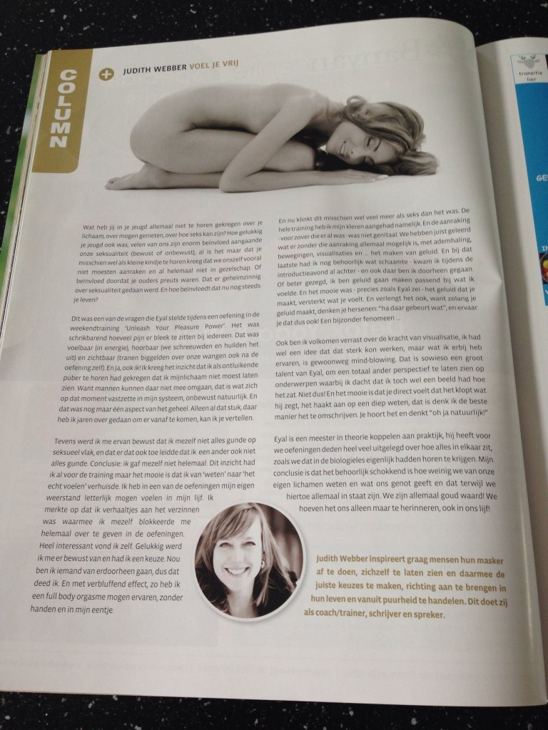 judith weber article in change magazine netherlands