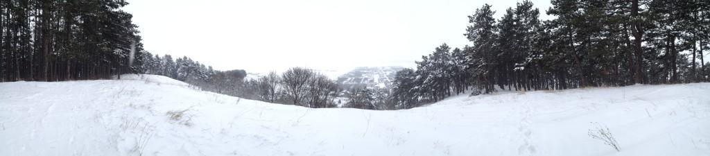 Hill above Kamala center, Panorama (click to see full screen panorama)